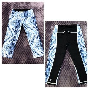 Victoria's Secret Knockout Crop Pants Blue Tie Dye